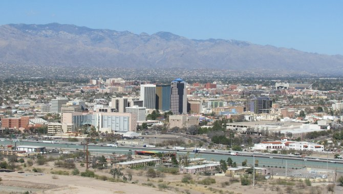 View of downtown Tucson from Tuscon Mountain
