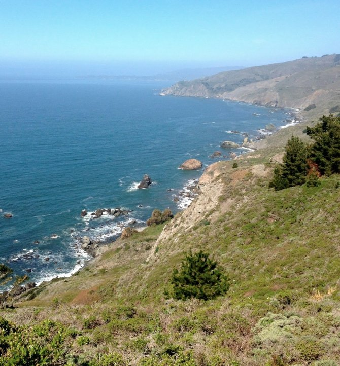 Muir Beach from cliffs