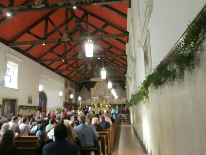 Inside the First Catholic Church in North America