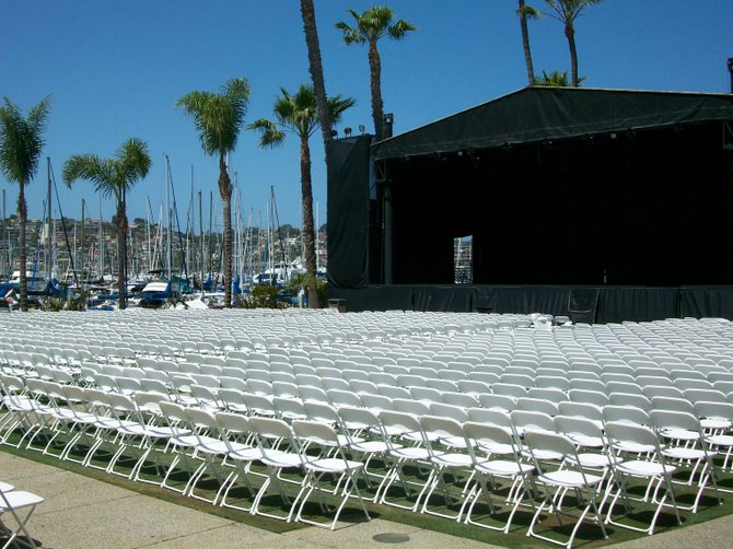 Humphreys concerts on the bay lawn chair set-up.