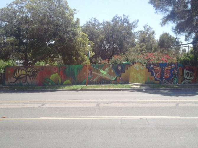 Fence canvas on Broadway in Golden Hill