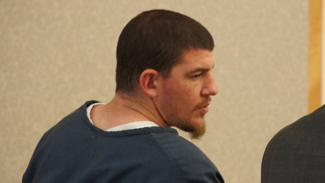 Michael Crain Grandys pleads not guilty. Photo Weatherston.