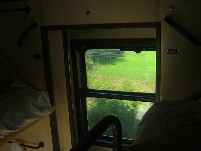 The Reunification Express's less-than-desirable upper bunk.