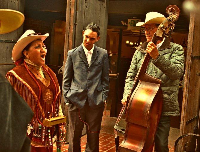 Mariachi performers on Olvera Street, Los Angeles
