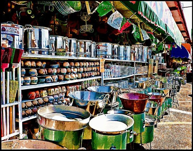 Neighborhood Photos TIJUANA,MEXICO Pots and pans at Tijuana's Mercado Hidalgo on the River Zone/Ollas en el Mercado Hidalgo de Tijuana en la Zona Rio