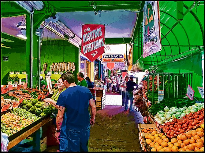 Neighborhood Photos TIJUANA,BAJA CALIFORNIA Fruits and vegetables at Tijuana's Mercado Hidalgo/Frutas y vegetales en el Mercado Hidalgo de Tijuana