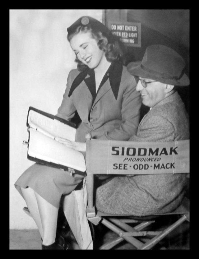 "Durbin with ""Christmas Holiday"" director, Robert Siodmak."