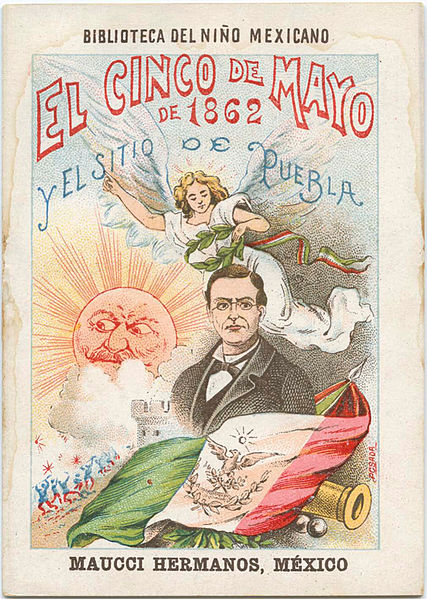 Cover for a children's book about the Battle of Puebla.