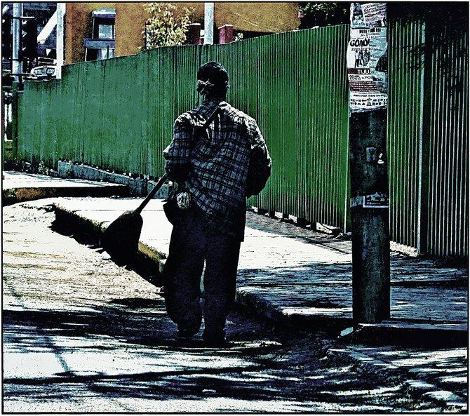 Neighborhood Photos TIJUANA,BAJA CALIFORNIA Street Person in Otay Section of Tijuana/Vagabundo en Otay,Tijuana