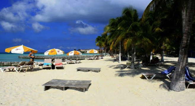 Playa on Isla Mujeres' less-populated east end.