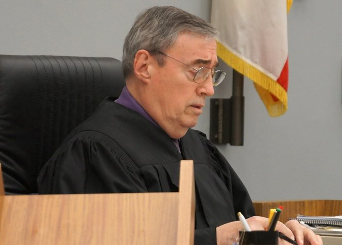 Judge Marshall Hockett raised bail to $50,000.  Photo Weatherston.