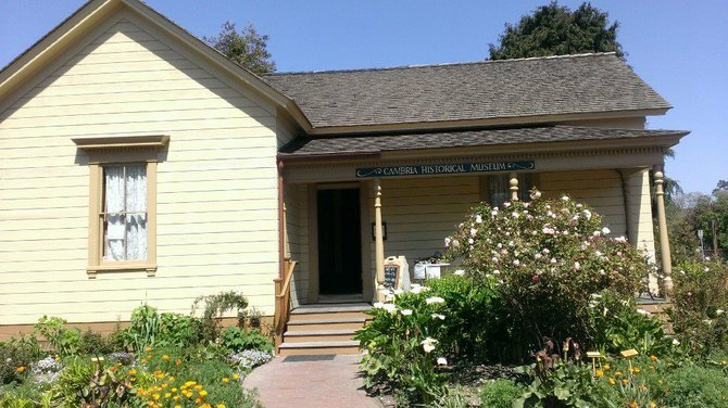 Cambria's museum is restored from one of the town's oldest homes, built in 1870.