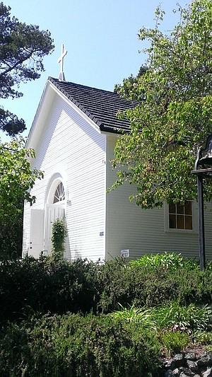 Santa Rosa Chapel on the hilltop.