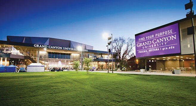 In 2009, Grand Canyon University spent $2177 per student on instruction and $3389 per student on marketing.