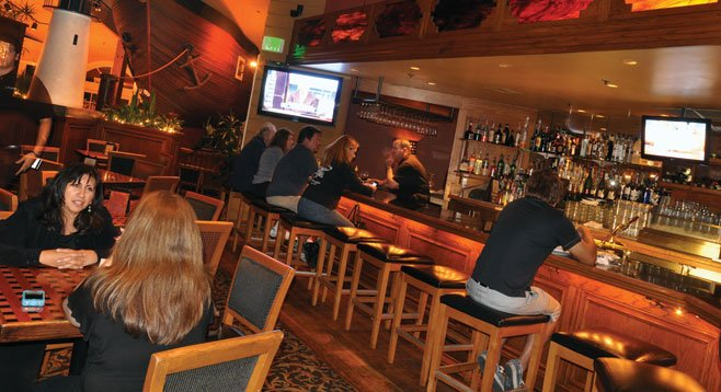 The Brigantine is generally bustling (doubly so during happy hour),  so order at the oyster bar.
