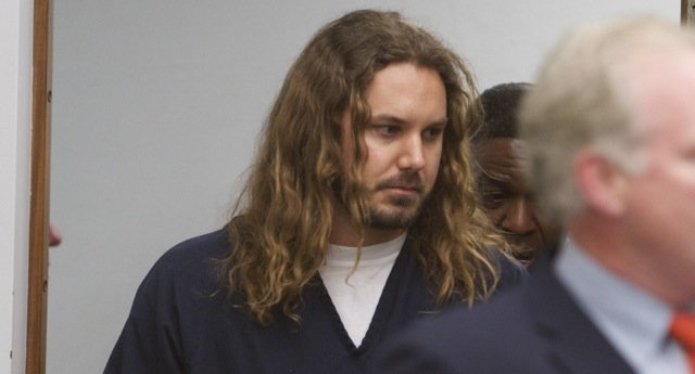 Timothy Lambesis brought into court today.  Photo Bill Wechter, court pool.