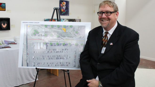 Anthony Kleppe in front of Virginia Avenue plan
