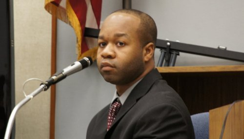 Matthew McDuffie took the witness box in his own defense.  Photo Weatherston.