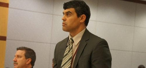 Prosecutor Patrick Espinoza filed special circumstance allegation on May 10 2013.  Photo Weatherston.
