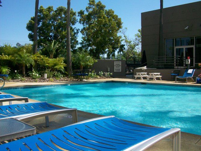 Nice pool at Doubletree Hotel in Mission Valley.