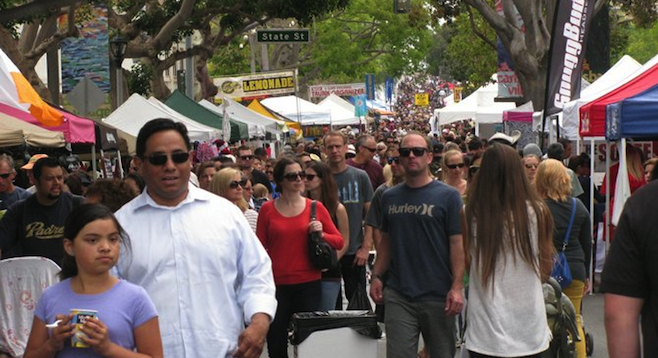 Over 900 vendors participate in Carlsbad's fest, held in May and November. That's a lot of shopping.