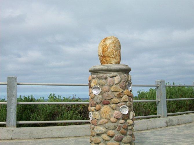 Sculptural beauty adorns la Jolla Cove overlook.