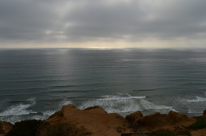 Sunset at Torrey Pines State Park, Del Mar, May 10th, 2013