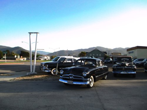 Lot full of old Fords