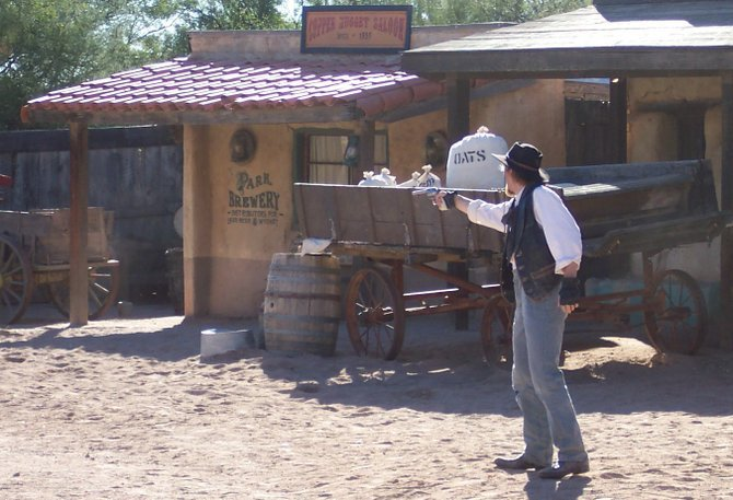 Gunfight at Old Tucson Studios.