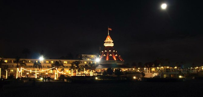 Night time by Hotel Del Coronado