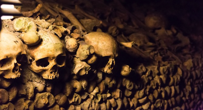"""Empire of the dead"": Paris's catacombs hold the remains of some six million people."