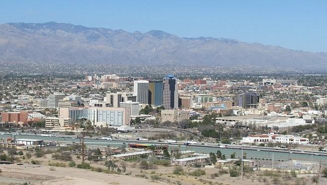 Downtown Tucson from Tuscon Mountain.