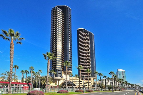 The penthouse suite occupies the 41st and 42nd floors at the Harbor Towers luxury high-rise in downtown San Diego.