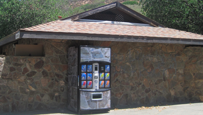 New beverage vending machine at Cowles Mountain