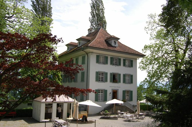 The exterior of Villa Tribschen, the Lucerne home of Richard Wagner, which is now a museum devoted to the life and work of the German composer.