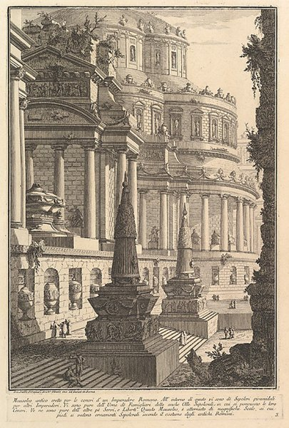 Ancient Mausoleum Erected for the Ashes of a Roman Emperor (1750)