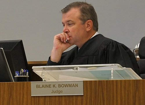 Judge Bowman ordered the defendant immediately released from custody.  Photo Weatherston.