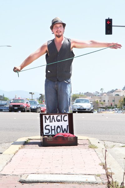 """""""The most money I've ever made? 72 dollars,"""" street magician Joseph Bremerthon says. """"And, I've also come away with zero."""""""