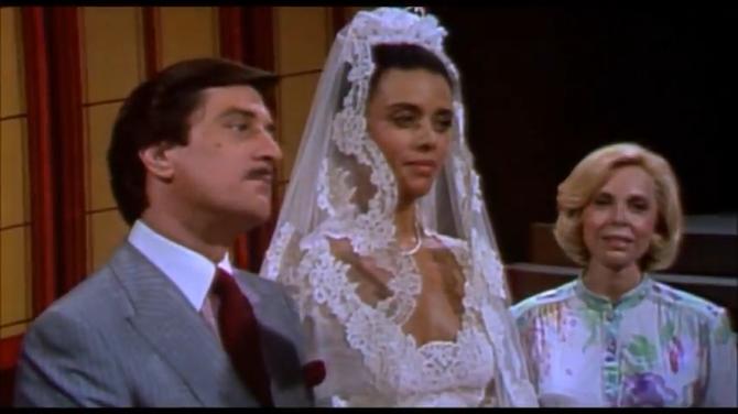 Joyce acting as Maid of Honor at America's royal wedding.