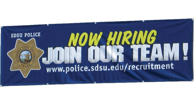 SDSU is looking to hire new cops.