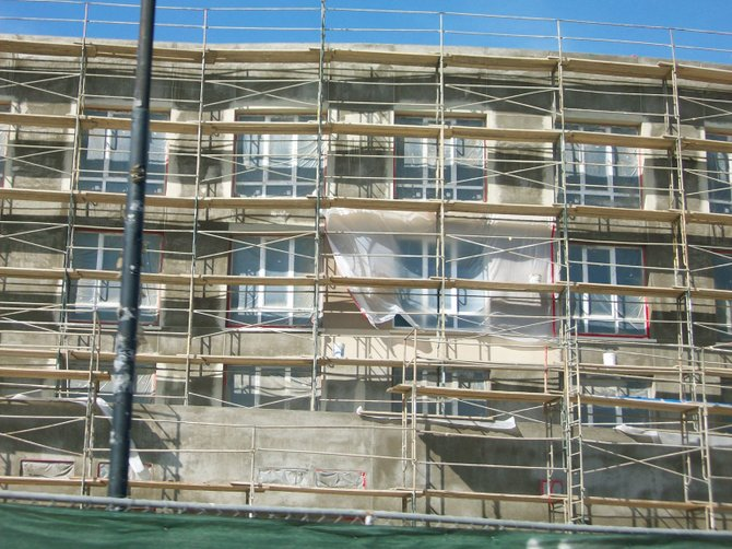 Next to the Holiday Inn in Point Loma. a brand new building is going up.