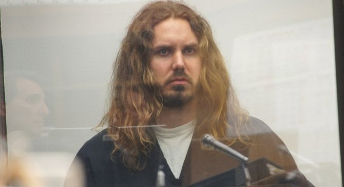 Tim Lambesis got his bail lowered from $3 mill to $2 million today, May 17, 2013.  Photo Weatherston.