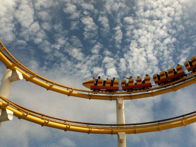 Santa Monica Pier roller coaster