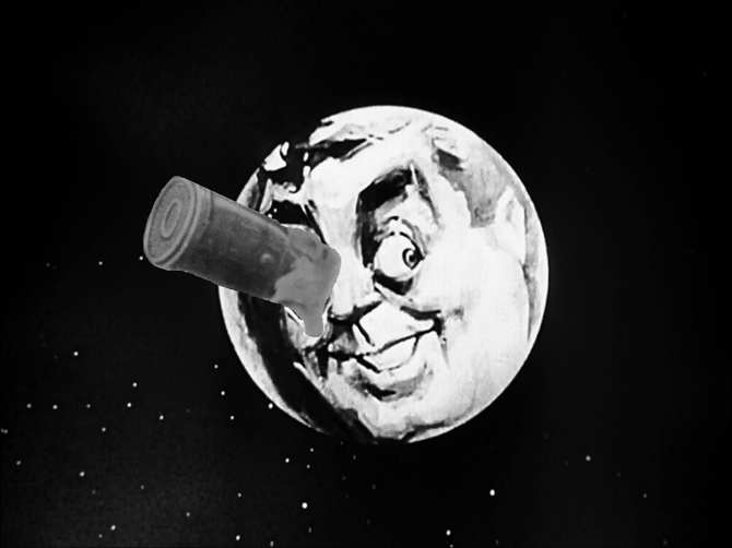 """BANG! ZOOM! To the moon, Hugo!"""