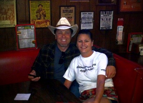 Johnny and Cathy at the Longhorn. Best waitress EVER.
