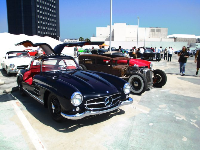 Gullwing Merceded and a 1930 Model A