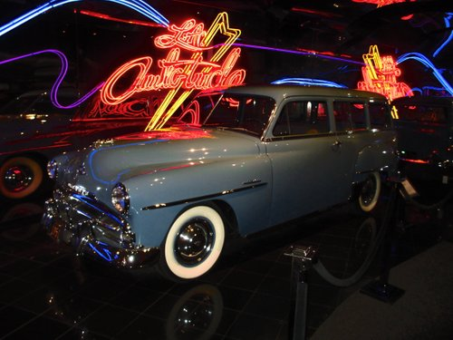 Really cool 1951 Plymouth Suburban at the Petersen