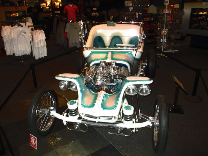 Ed Roth's Outlaw. 60's style showrod. At the Petersen