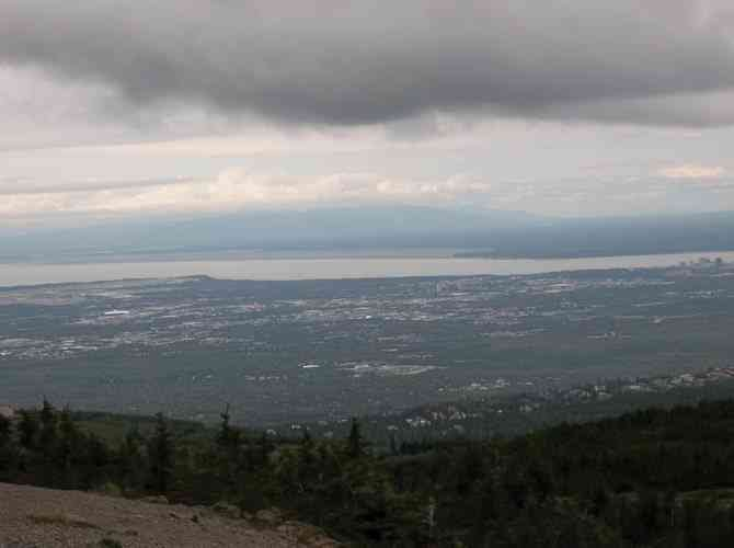 The best view in Anchorage is from the top of Flattop Mountain.