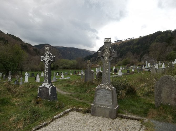 Graveyard at Glendalough, Ireland